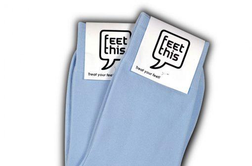 licht blauwe sokken