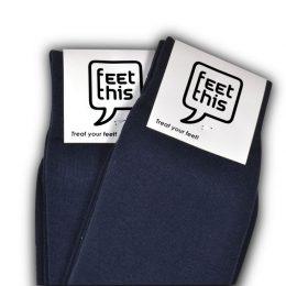 donkerblauwe sokken