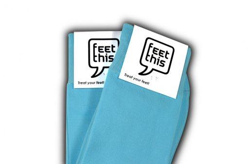 Lichtblauwe sokken