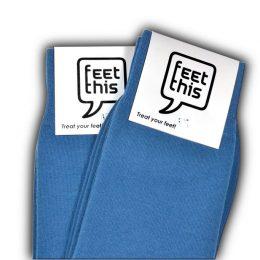 denim blauwe sokken