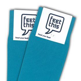 azuur blauw sokken - productafbeelding - dubbel