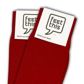bloed rood sokken - productafbeelding - dubbel