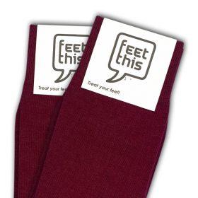 bordeaux rood sokken - productafbeelding - dubbel