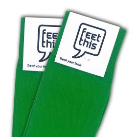 diep groen sokken - productafbeelding - dubbel