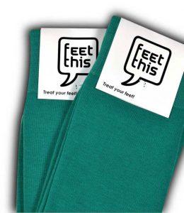 Blauw groene sokken