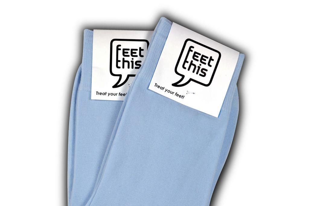 Ijs blauwe sokken
