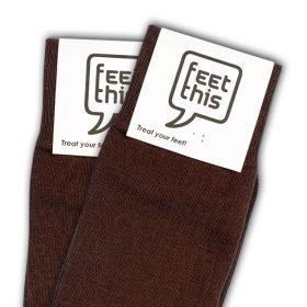 kastanje bruin sokken - productafbeelding - dubbel