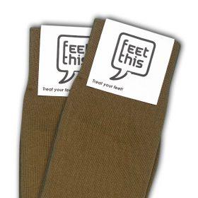 koper bruin sokken - productafbeelding - dubbel