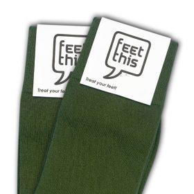 leger groen sokken - productafbeelding - dubbel