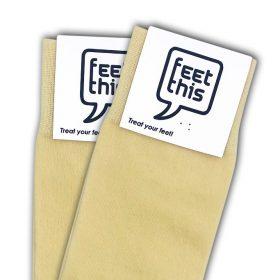 licht geel sokken - productafbeelding - dubbel