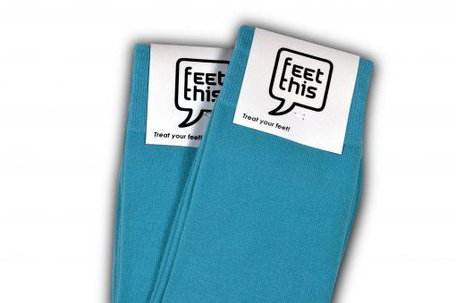 fel blauwe sokken