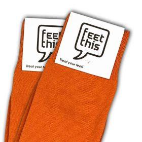 puur oranje sokken - productafbeelding - dubbel