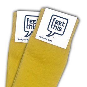 zon geel sokken - productafbeelding - dubbel