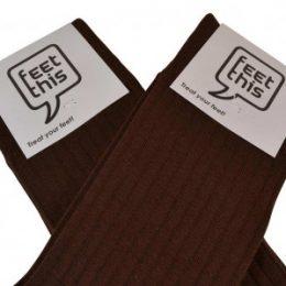 bruine luxe sokken