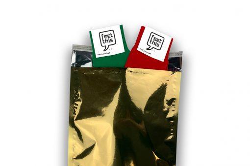 cadeauverpakking 2 paar sokken