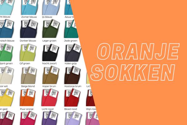 Oranje sokken